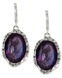 Jones New York | Purple Silver-Tone Tanzanite Crystal Drop Earrings | Lyst