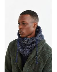 Bickley + Mitchell - Blue X Uo Hooded Scarf for Men - Lyst