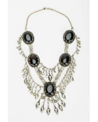 Urban Outfitters - Metallic Silk Road Designs Stone Statement Necklace - Lyst