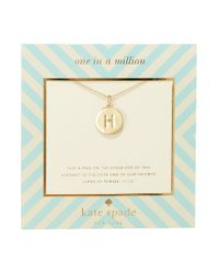 Kate Spade | Metallic One In A Million Letter H Pendant Necklace | Lyst