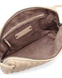 Bottega Veneta - White Intrecciato Messenger Bag - Lyst