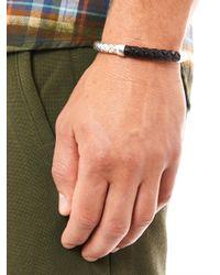 Bottega Veneta | Metallic Intrecciato Silver and Leather Bracelet for Men | Lyst