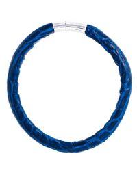 Tateossian - Blue 'alligator Cobra' Bracelet for Men - Lyst
