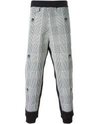 Alexander McQueen | Black Check Skull Track Pants for Men | Lyst