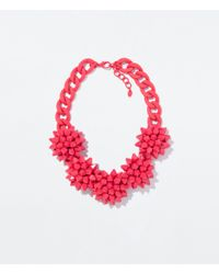 Zara | Red Flower Necklace | Lyst