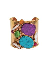 Sylvia Toledano - Metallic Abstract Composition Cuff - Lyst