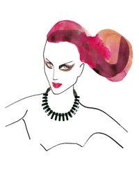 Lizzie Fortunato | Black Tile Necklace | Lyst