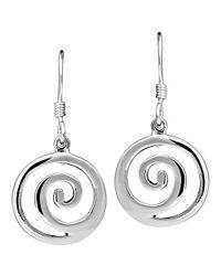 Aeravida | Metallic Modern Maze .925 Sterling Silver Dangle Swirl Earrings | Lyst