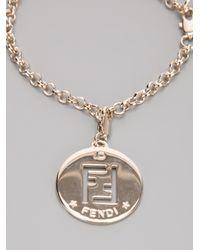 Fendi | Metallic Charm Bracelet | Lyst