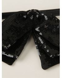 Saint Laurent - Black Layered Bow Tie for Men - Lyst