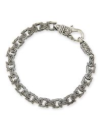 Konstantino - Brown Mens Scroll Oval Link Bracelet for Men - Lyst