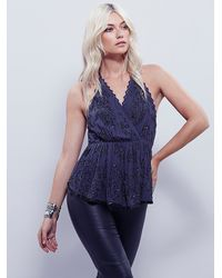 Free People - Gray Make You Mine Embellished Tank - Lyst