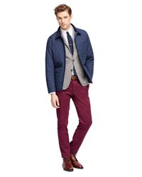 Brooks Brothers | Blue Quilted Jacket | Lyst