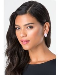 Bebe - Multicolor Frosted Crystal Earring Set - Lyst