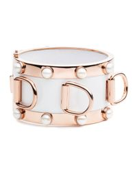 Eddie Borgo | Metallic D-ring Pearl Cuff Bracelet | Lyst
