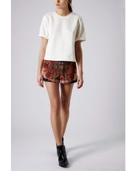 TOPSHOP - Multicolor Folk Pattern Placement Shorts - Lyst