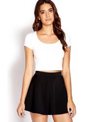 Forever 21 | White Daring Zippered Crop Top | Lyst