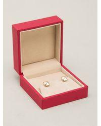 Valentino | Metallic Rockstud Earrings | Lyst