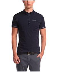BOSS Orange - Blue Cotton Polo Shirt 'pioli' for Men - Lyst