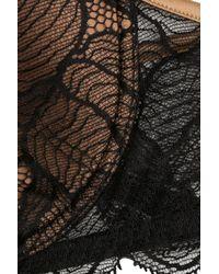 La Perla - Padded Bra With Lace - Black - Lyst