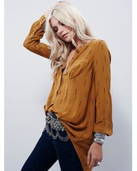 Free People | Orange Shibori Magic Printed Po | Lyst