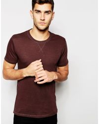 SELECTED | Brown T-shirt In Twisted Yarns for Men | Lyst