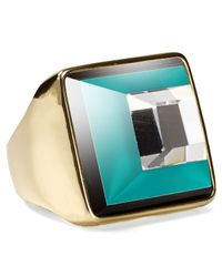 Marc By Marc Jacobs - Green Stacked Glass Ring - Lyst
