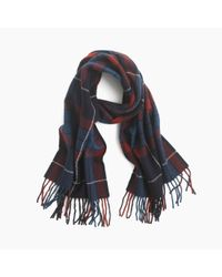 J.Crew | Red Mosaic Wool Scarf for Men | Lyst