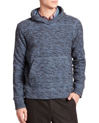 VINCE | Blue Marled Hoodie for Men | Lyst