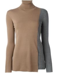 Akris - Natural Colour Block Sweater - Lyst