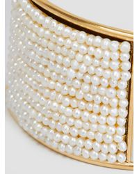 Medecine Douce - Metallic Knit Maxi Bangle Gilded Brass - Lyst