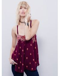 Free People | Purple Womens Chasing The Dream Cami | Lyst