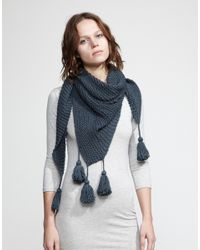 Wool And The Gang | Gray Cast Away Scarf | Lyst