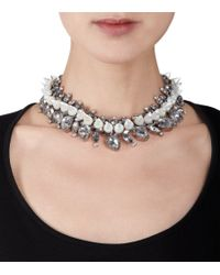 Givenchy | Gray Rock Crystal Mother Of Pearl Cone Necklace | Lyst