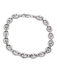 Lord & Taylor | Metallic Sterling Silver Maritime Link Bracelet | Lyst
