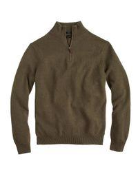 J.Crew - Natural Slim Cotton-Cashmere Half-Zip Sweater for Men - Lyst
