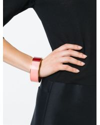 Erika Cavallini Semi Couture | Red Colour Block Bracelet | Lyst