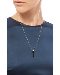 Mateo - Metallic Onyx Bar Necklace - Lyst