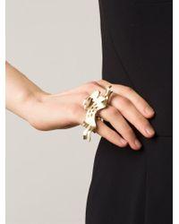 Lanvin | Metallic Rabbit Double Ring | Lyst