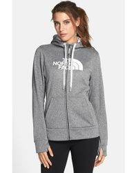 The North Face | Gray 'half Dome' Full Zip Fleece Hoodie | Lyst
