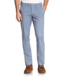 Saks Fifth Avenue | Blue Geo-printed Chinos for Men | Lyst
