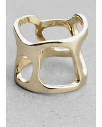 & Other Stories - Metallic Cutout Ring - Lyst