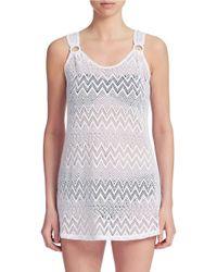 J Valdi | White Mesh Dress Cover-up | Lyst