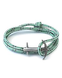 Anchor & Crew | Blue Green Dash Admiral Rope Bracelet for Men | Lyst