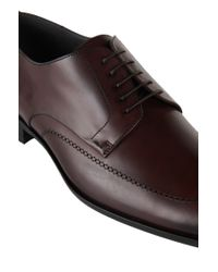 BOSS Red Leather Lace-up Shoes: 'cerwin' for men