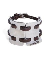 Uno De 50 | Metallic Cosido Madrileno Leather Cuff Bracelet | Lyst