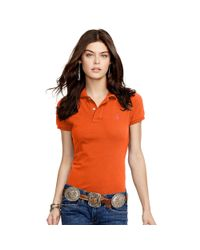 Polo Ralph Lauren - Orange Skinny-fit Polo Shirt - Lyst