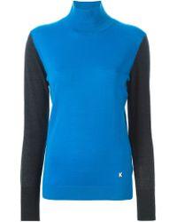 KENZO - Blue Funnel Neck Sweater - Lyst