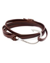 Miansai - Brown Hook Wrap Bracelet - Lyst