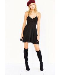 Kimchi Blue - Black Diamond Lace Skater Dress - Lyst